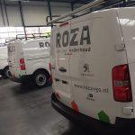 Auto belettering Roza vastgoed en onderhoud
