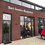 Gevelreclame bij Bart Sanders Maatpakken in Vianen