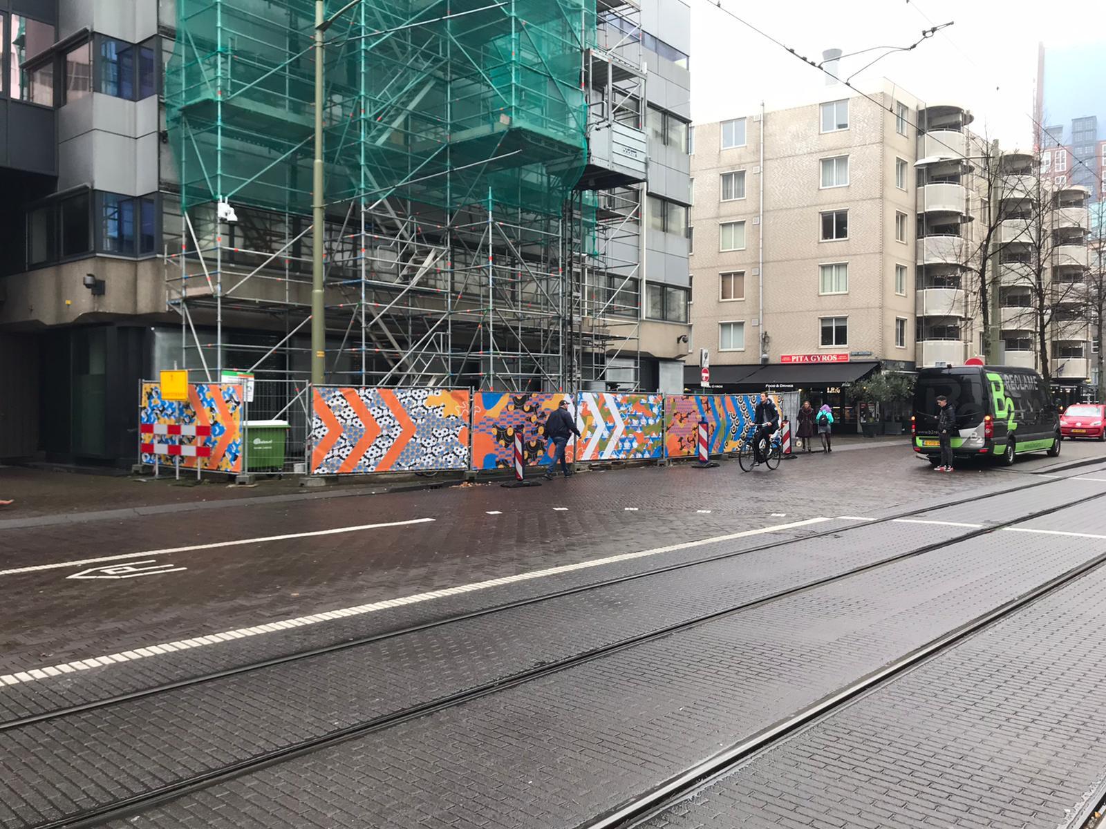 Bouwhekdoeken voor het Ministerie van Defensie in Den Haag