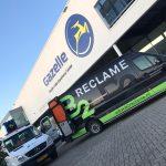 Gevelreclame voor Gazelle in Nijmegen