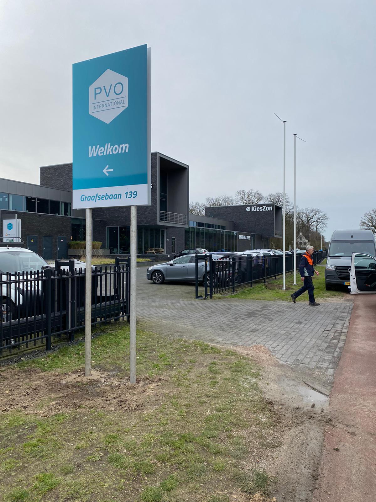 Binnen-en buitenreclame PVO Internationaal – Rosmalen A59